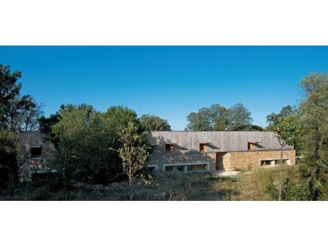 Bâtisse à l'horizontale - maison Pierre Audat