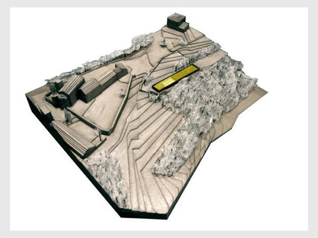 Plan masse 3D - maison Pierre Audat