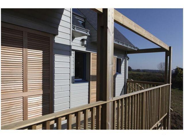 Bardage bois - maison bioclimatique Bretagne