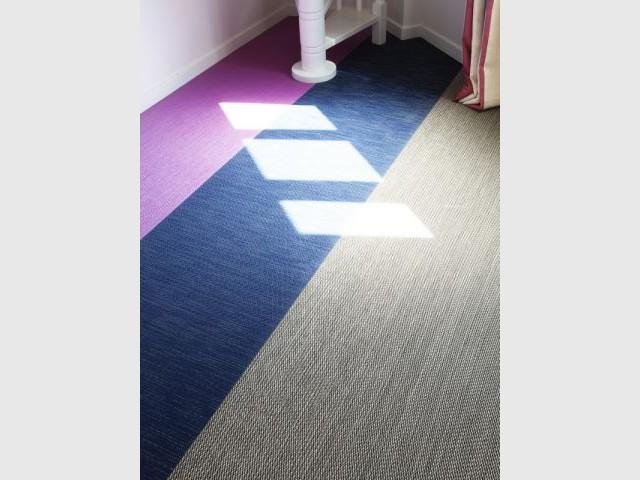 Après : le sol comme base de réflexion - Avant/après Aude Borromée - bandes colorées