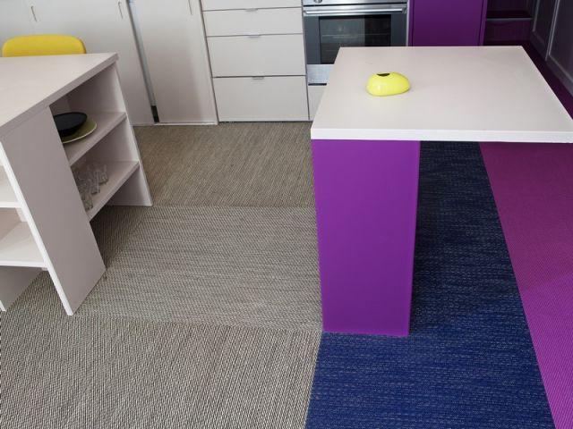 Après : le bureau - Avant/après Aude Borromée - bandes colorées