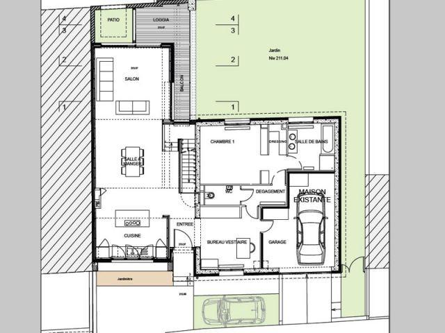 Trois niveaux - Atelier d'Architecture Laville Cardinal