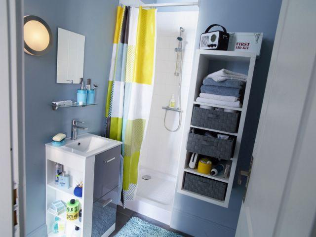Des astuces pour optimiser une mini salle de bains - Amenagement placard salle de bain ...