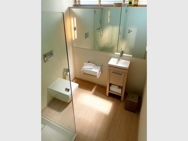 Des astuces pour optimiser une mini salle de bains - Plan petite salle de bain avec wc ...