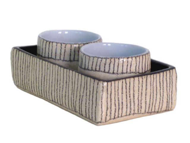Plateau et duo de mugs par Sabine Orlandini - Version unique - collection objets site