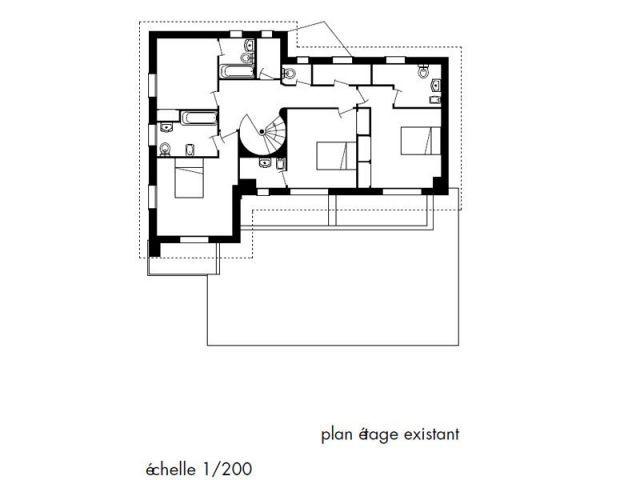 Plan de l'étage existant