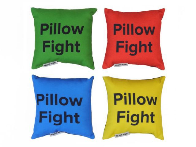 Pillow Fight - Yellow Velvet