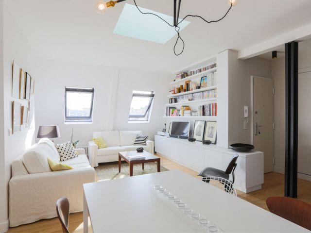 La poutre IPN : une contrainte transformée en atout - Appartement Philippe Demougeot