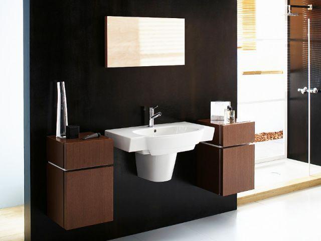 Une vasque géométrique pour une salle de bains masculine - Vasque