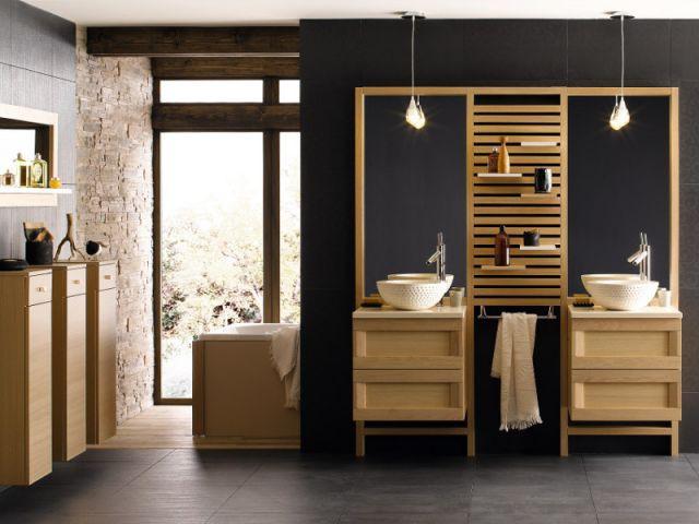 Une vasque beige pour une salle de bains zen - Vasque