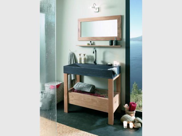 Une vasque en pierre pour une salle de bains naturelle - Vasque