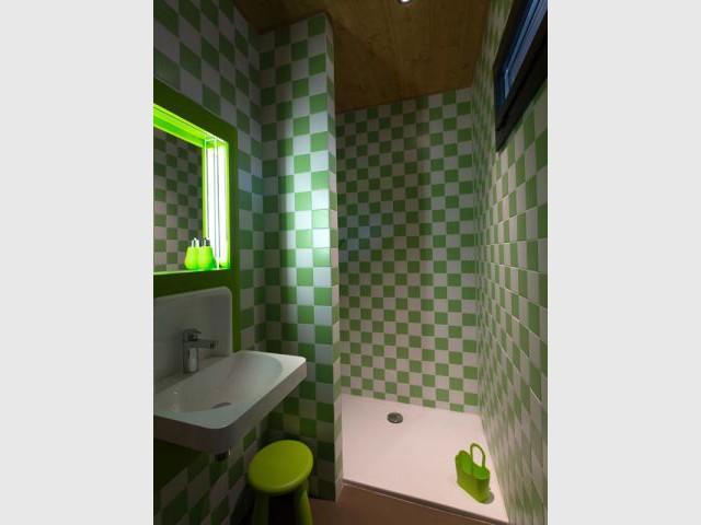 Un code couleur précis : vert et blanc - Cabanes de Salagnac