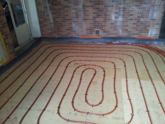 Plancher chauffant - maison rénovation énergétique