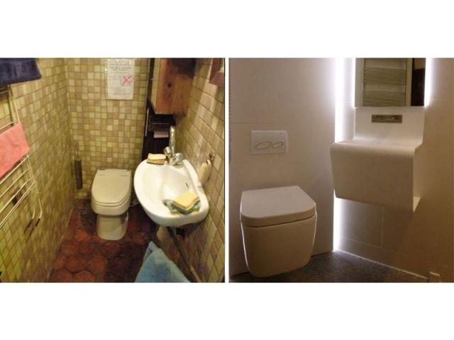 Salles de bains avant/après travaux - appartement parisien - Francesca de Marchi