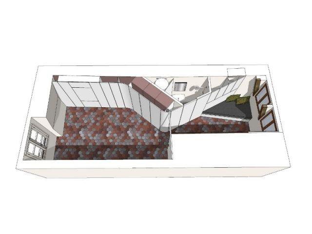 Plan de l'appartement avec meuble plié - appartement parisien - Francesca de Marchi