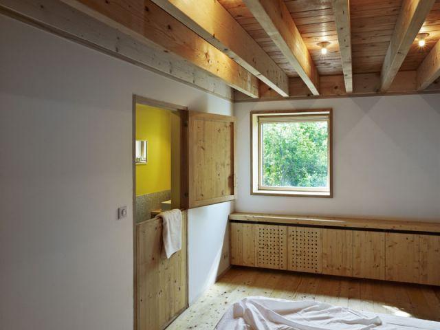 Une chambre 100% bois - Reportage Grange - Loïc Piquet