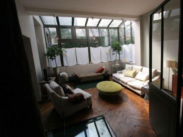 Le salon surplombe la partie souplex - Camille Hermand Architectures