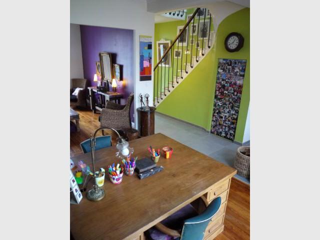 Séjour-bureau et cage d'escalier - Concours Bensimon