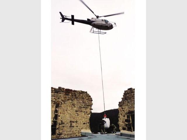 Opération héliportée - Château de Beaufort