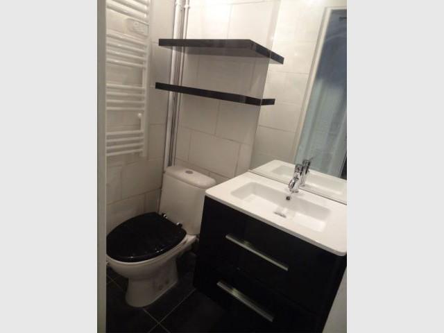 Salle de bains damier - Blandine Colson/Un air de déco