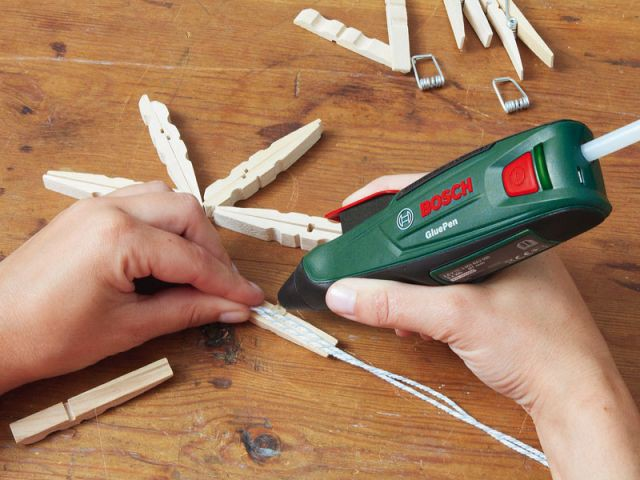 Des suspensions à partir de pinces à linge 2/4 - Bosch