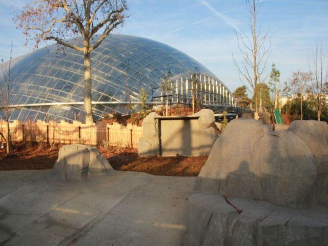 Après la livraison  - Serre tropicale au zoo de Vincennes