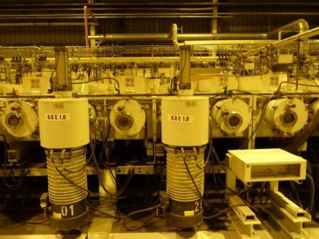Canons à ions - usine verre Guardian
