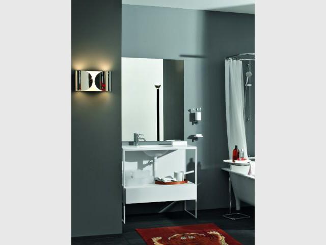 Un applique métal pour une salle de bains haut-de-gamme - Ambiances appliques
