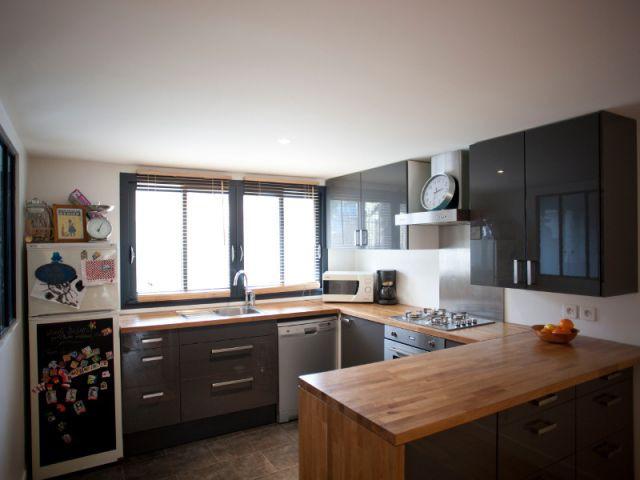La cuisine a remplacé l'ancien garage - Maison des Lilas