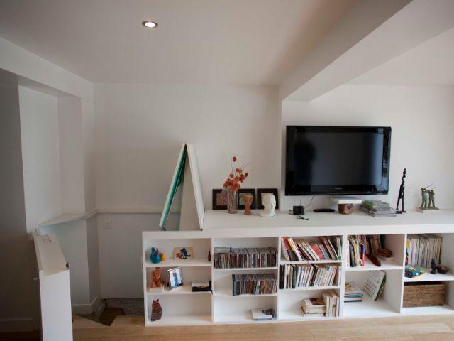 Le nouveau salon issu de l'extension - Maison des Lilas