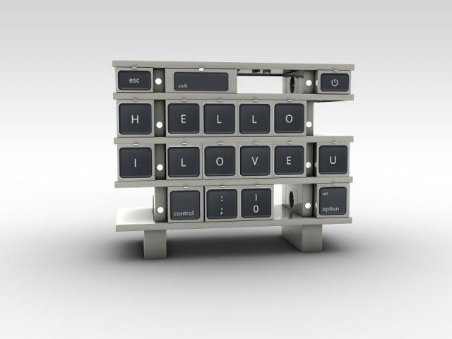 Commode FaCeHub clavier d'ordinateur - Mobikey - eGalHub