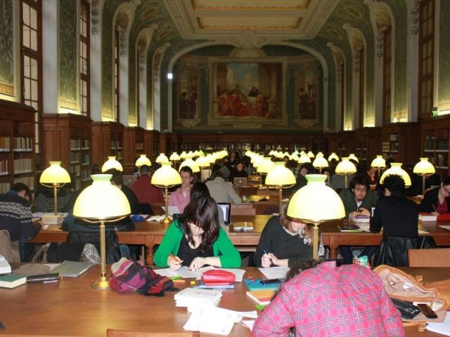 Après :  la salle Jacqueline de Romilly  - Rénovation de la Bibliothèque universitaire de la Sorbonne