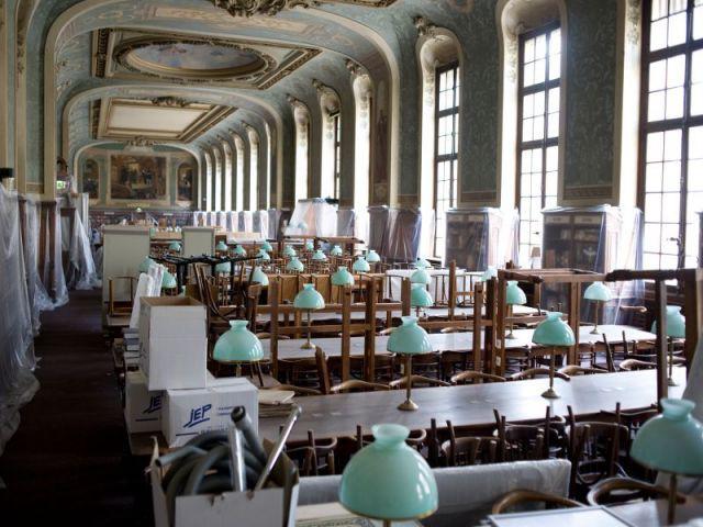 Avant : la salle Jacqueline de Romilly  - Rénovation de la Bibliothèque universitaire de la Sorbonne