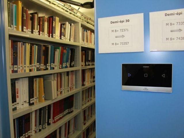 Zone de stockage  - Rénovation de la Bibliothèque universitaire de la Sorbonne