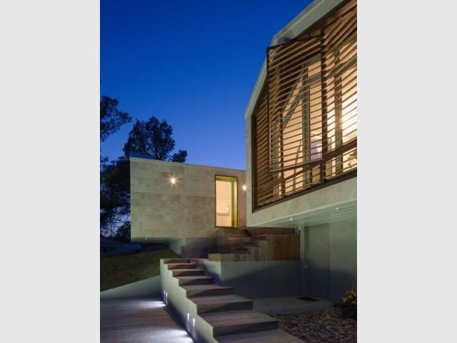 Vue de nuit - Maison Nourrigat-brion