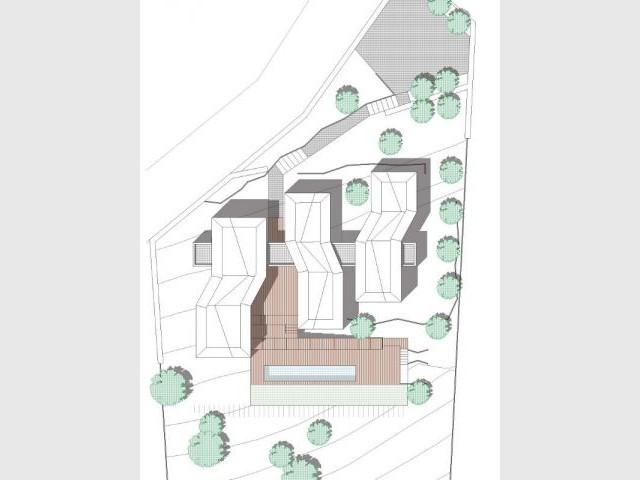 Plan de masse - Maison Nourrigat-brion