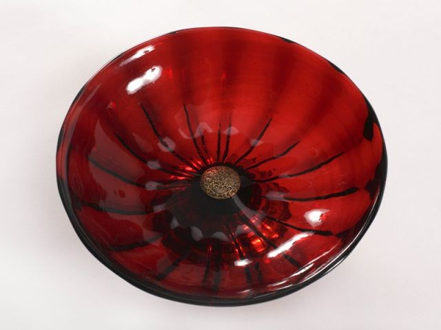 Coupe en verre rubis - Collection du Mesnil