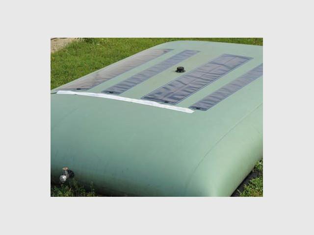Réservoir équipé des cellules photovoltaïques - Texysolar