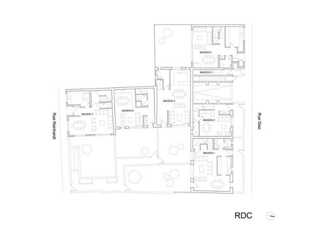 Plan du rez-de-chaussée - Maisons Boulogne Goudchaux