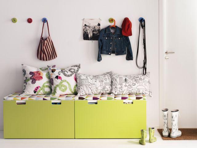 Une entrée façon école primaire - IKEA