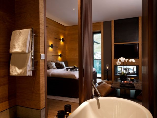 le chedi andermatt un complexe entre rusticit et. Black Bedroom Furniture Sets. Home Design Ideas