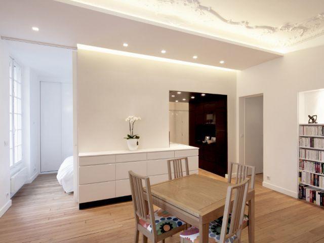 Une chambre parentale ouverte mais discrète - Rénovation d'un T3 en T4