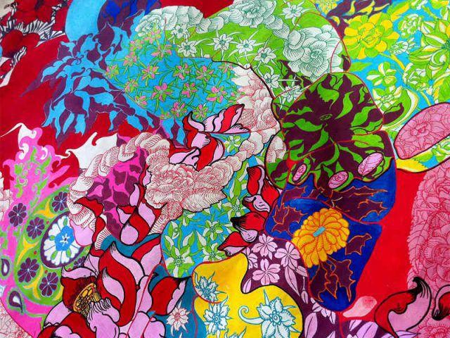 La toile en soie d'Hélène Angeletti - Une collection d'objets décoratifs dédiée au motif