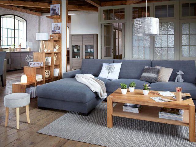 Salon séparé par un meuble