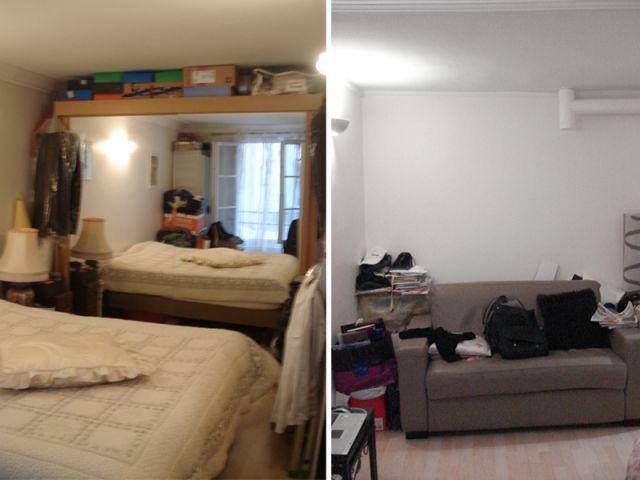 Sols et plafonds entièrement refaits à neuf - Rénovation appartement