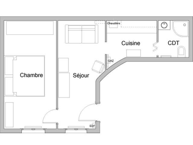 Appartement existant très cloisonné - Rénovation appartement