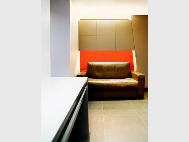 Une niche sur-mesure pour le canapé - Michel Antraygues