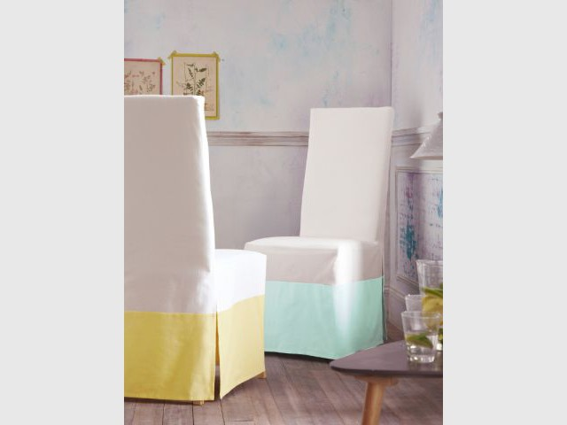 Housses de chaises bicolores - 3 Suisses