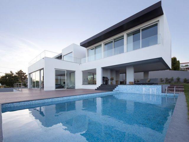 une villa contemporaine ouverte sur l 39 oc an. Black Bedroom Furniture Sets. Home Design Ideas
