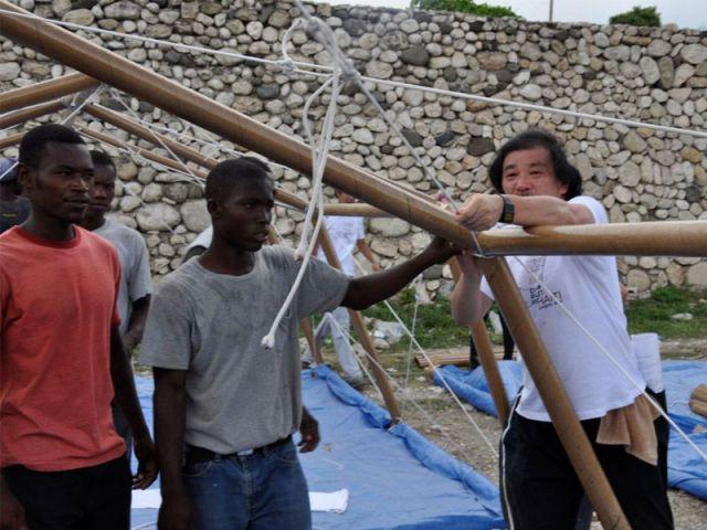 Abri d'urgence pour Haïti - 2010, Port-au-Prince - Shigeru Ban Architects